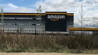 L'entrepôt Amazon à Brétigny-sur-Orge.