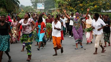 Manifestants à Bujumbura, le 13 mai 2015