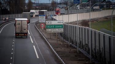 L'autoroute A16 a été coupé. (Image d'illustration)