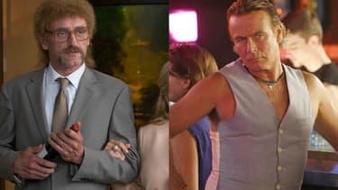 """Jean-Paul Rouve dans le rôle de Jeff Tuche (""""Les Tuche"""") et Franck Dubosc dans le rôle de Patrick Chirac (""""Camping"""")"""