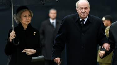 L'ancien roi Juan Carlos et son épouse Sofia le 4 mai 2019 au Luxembourg