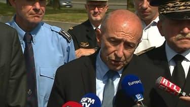 Gérard Collomb, ministre de l'Intérieur, lundi après-midi dans le Nord.
