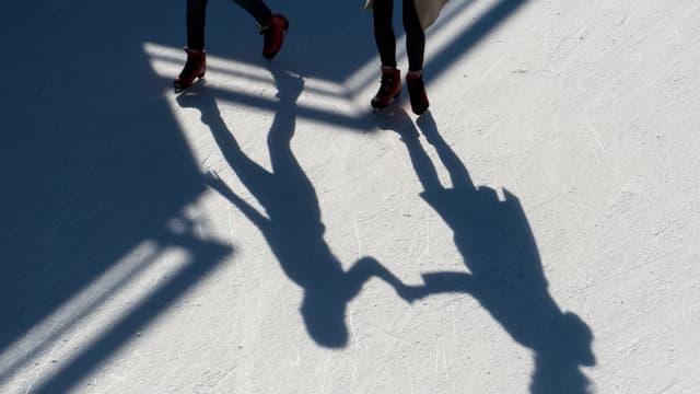 Patin à glace (illustration)