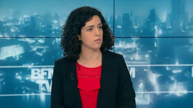Manon Aubry, tête de liste de La France insoumise, le 19 avril 2019