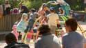 Des enfants dans un parc à Rouen