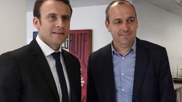 Emmanuel Macron et le leader de la CFDT Laurent Berger.