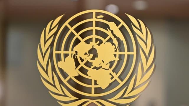 L'emblème de l'ONU au siège de l'organisation, à New York, le 24 septembre 2019 (Photo d'illustration)