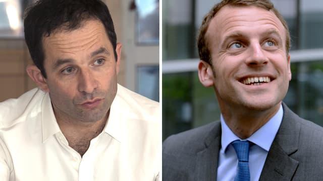 Benoît Hamon et Emmanuel Macron