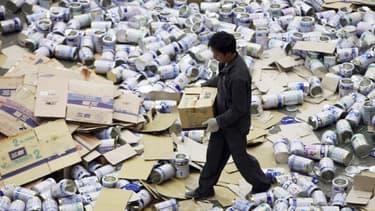 En 2008, du lait en poudre avait eu des effets dramatiques sur de nombreux bébés en Chine.