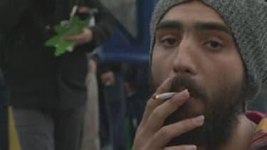 Un militant pro-cannabis, à Montevideo, la capitale de l'Uruguay.