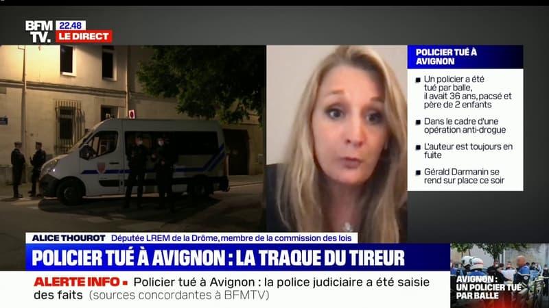 """Alice Thourot à propos du policier tué à Avignon: """"On doit condamner unanimement cet acte odieux"""""""