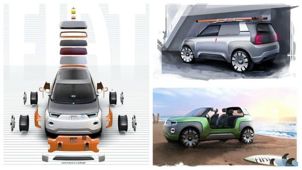 De la voiture de plage à l'utilitaire, en passant par la citadine et le tout-terrain, cette Panda du futur est prête à tout!