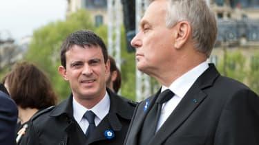 Le ministre de l'Intérieur, Manuel Valls, et le 1er ministre Jean-Marc Ayrault.
