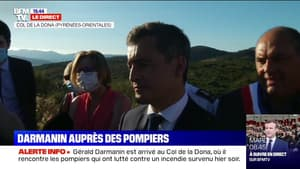 """Gérald Darmanin rappelle aux Français """"de ne pas aller dans les forêts lorsque c'est interdit"""" après l'incendie au Col de la Dona"""