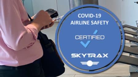 L'organisme de notation Skytrax a évalué les mesures anti-covid des compagnies aériennes