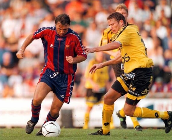 Hristo Stoichkov en 1997 avec le Barça