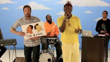 """Lil Yachty rappe dans l'émission de Jimmy Fallon sur plusieurs personnages de la série """"Les Simpsons"""""""