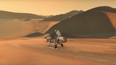 Modélisation du drone Dragonfly, qui explorera Titan à partir de 2034.