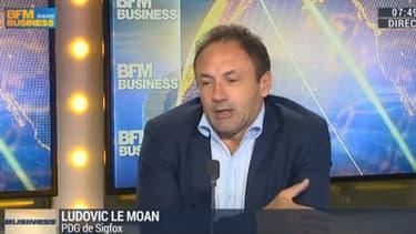 """""""L'internet des objets c'est le monde réel qui vient dans le monde virtuel"""" explique Ludovic Le Moan, PDG de Sigfox."""