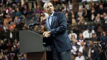 Barack Obama lors d'un discours à l'université de Chicago, le 19 octobre 2014.