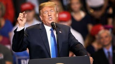 Le président américain Donald Trump, lors d'un discours de soutien à candidat républicain au Sénat, le 2 août 2018 en Pennsylvanie.