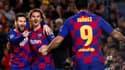 Lionel Messi, Antoine Griezmann et Luis Suarez.