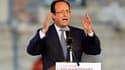 """Après un an de campagne, François Hollande a effectué son dernier déplacement à Charleville-Mézières, où il a dit entrevoir la victoire. """"Maintenant, c'est le tour de la gauche de diriger le pays"""", a-t-il affirmé. /Photo prise le 20 avril 2012/REUTERS/Cha"""