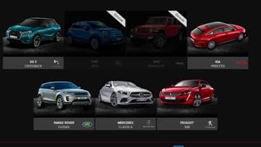 Restent seulement cinq voitures en lice pour le titre de plus belle voiture de l'année 2018.