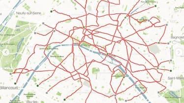 En GPS drawing, un jeune Parisien a recréé la carte du métro.