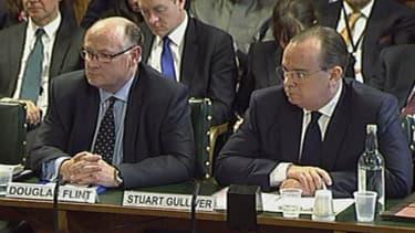 Stuart Gulliver et Douglas Flint étaient auditionnés par les parlementaires britanniques.