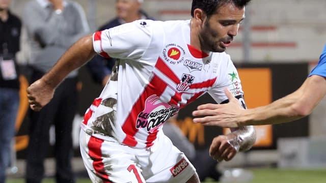 L'Ajaccien Johan Cavalli a été expulsé face à Bastia