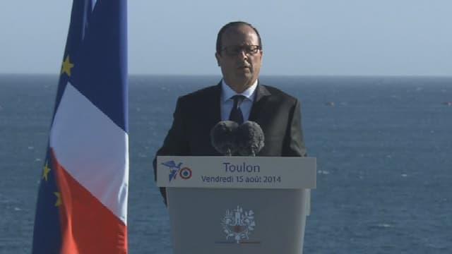 François Hollande s'exprime sur le regain de tension entre l'Ukraine et la Russie, ce vendredi 15 août.