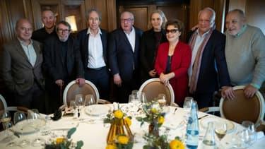 Les jurés du prix Goncourt à Paris le 3 mars 2020