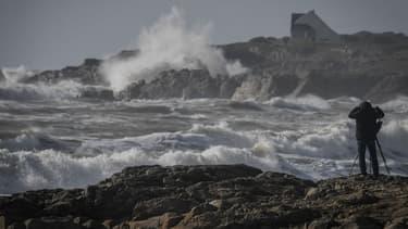 Des vents violents à Batz-sur-Mer en Loire-Atlantique, le 4 mars 2019. (Photo d'illustration)