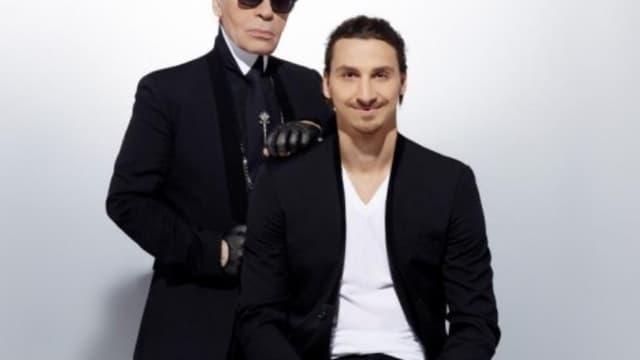 Karl Lagerfeld et Zlatan Ibrahimovic