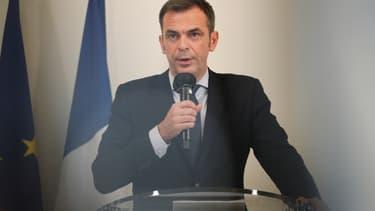 Le ministre de la Santé Olivier Véran ce jeudi.