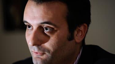 Florian Philippot, vice-président du Front national pendant une interview de campagne à Forbach le 4 janvier 2014.