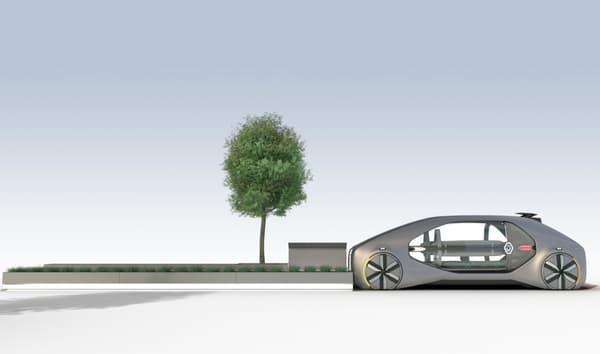 La station permettant un accès facilité à cet EZ-GO également imaginée avec le concept