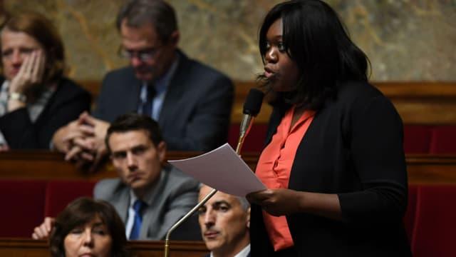 La députée La République en marche Laetitia Avia, le 8 novembre 2017 à l'Assemblée nationale à Paris. - Christophe Archambault - AFP