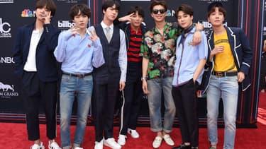 Le groupe BTS en mai 2018