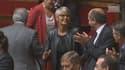 Véronique Massonneau, députée EELV, est entrée en retard dans l'hémicycle, accompagnée des élues de gauche.