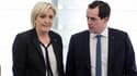 Marine Le Pen et Nicolas Bay, directeur de campagne du FN pour les législatives.