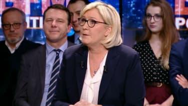Marine Le Pen invitée de BFMTV le 25 février 2018