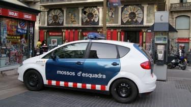 Illustration - Une voiture des Mossos d'esquadra, la police régionale catalane