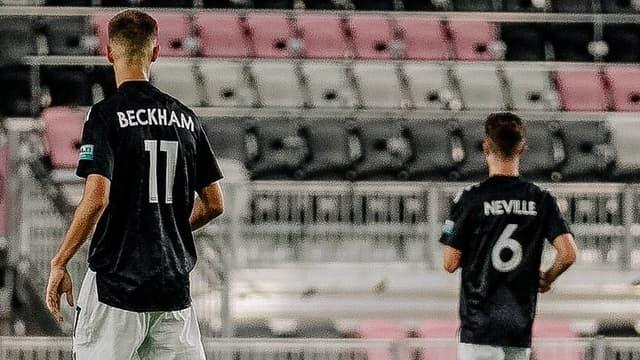 Romeo Beckham et Harvey Neville