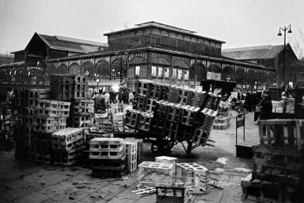 Les Halles avant le déménagement de février 1969.