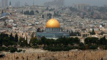 La vieille ville de Jérusalem le 6 décembre 2017