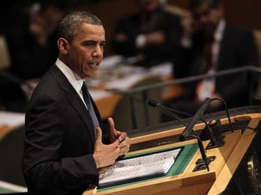 Barack Obama a profité, mardi, de son passage à la tribune des Nations unies pour reprendre la main sur le terrain de la politique étrangère face à son rival républicain Mitt Romney dans la course à la présidentielle du 6 novembre. /Photo prise le 25 sept