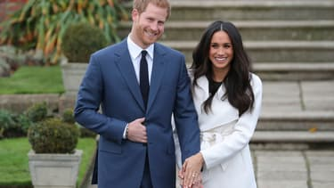 Le prince Harry et son épouse Meghan Markle -