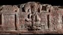 La frise maya, découverte par une équipe d'archéologues au Guatemala, en Amérique latine..